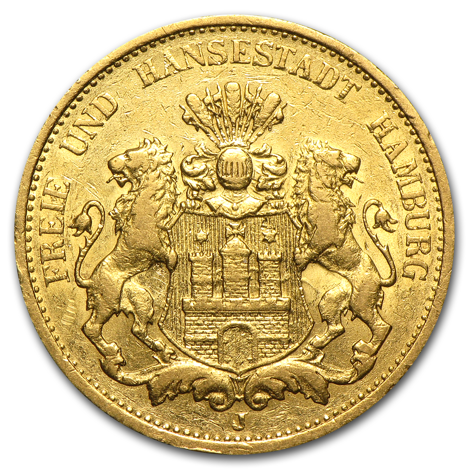 Hamburg 1875 Gold 20 Mark AGW .2304