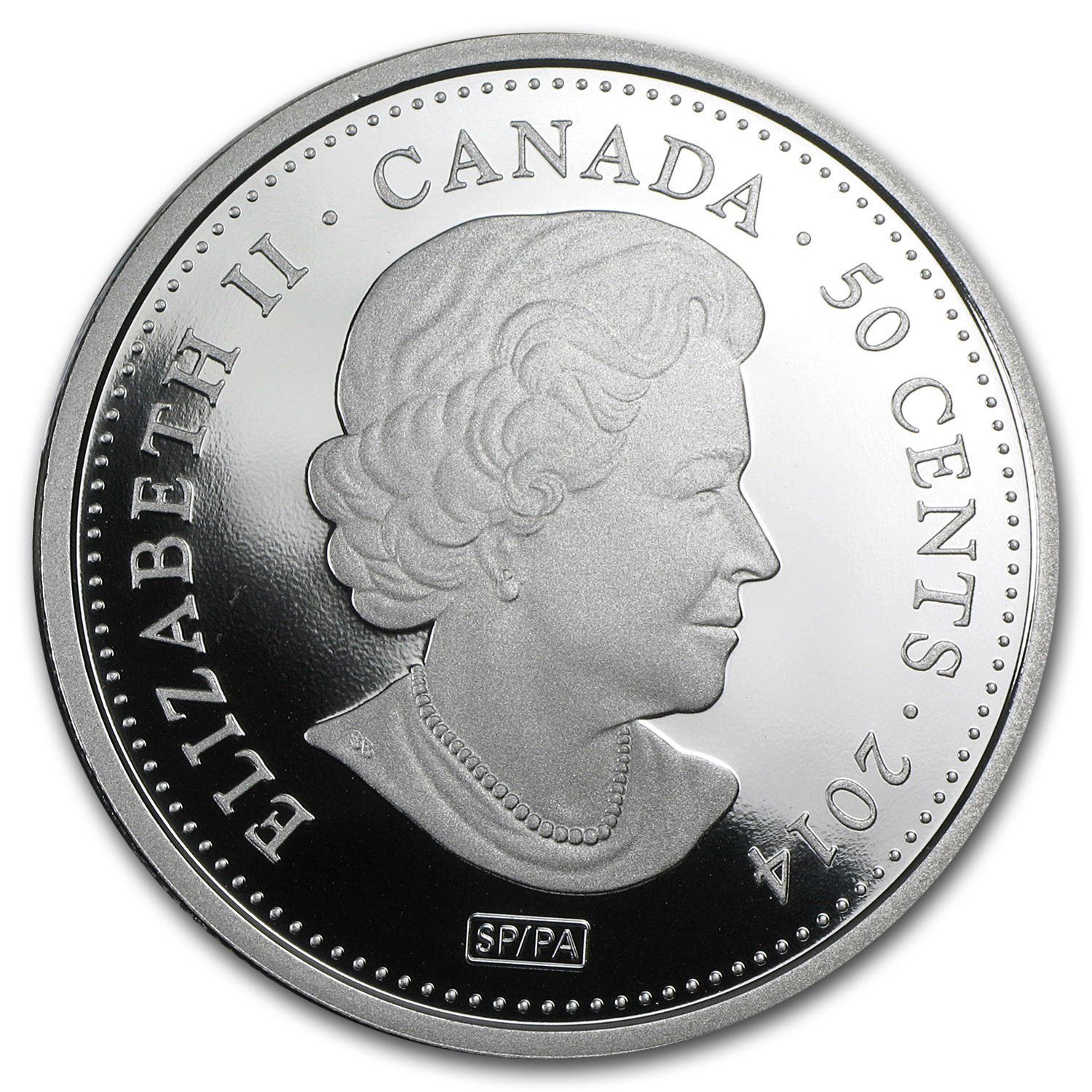 2014 Silver-Plated Canadian $0.50 100 Blessings of Good Fortune
