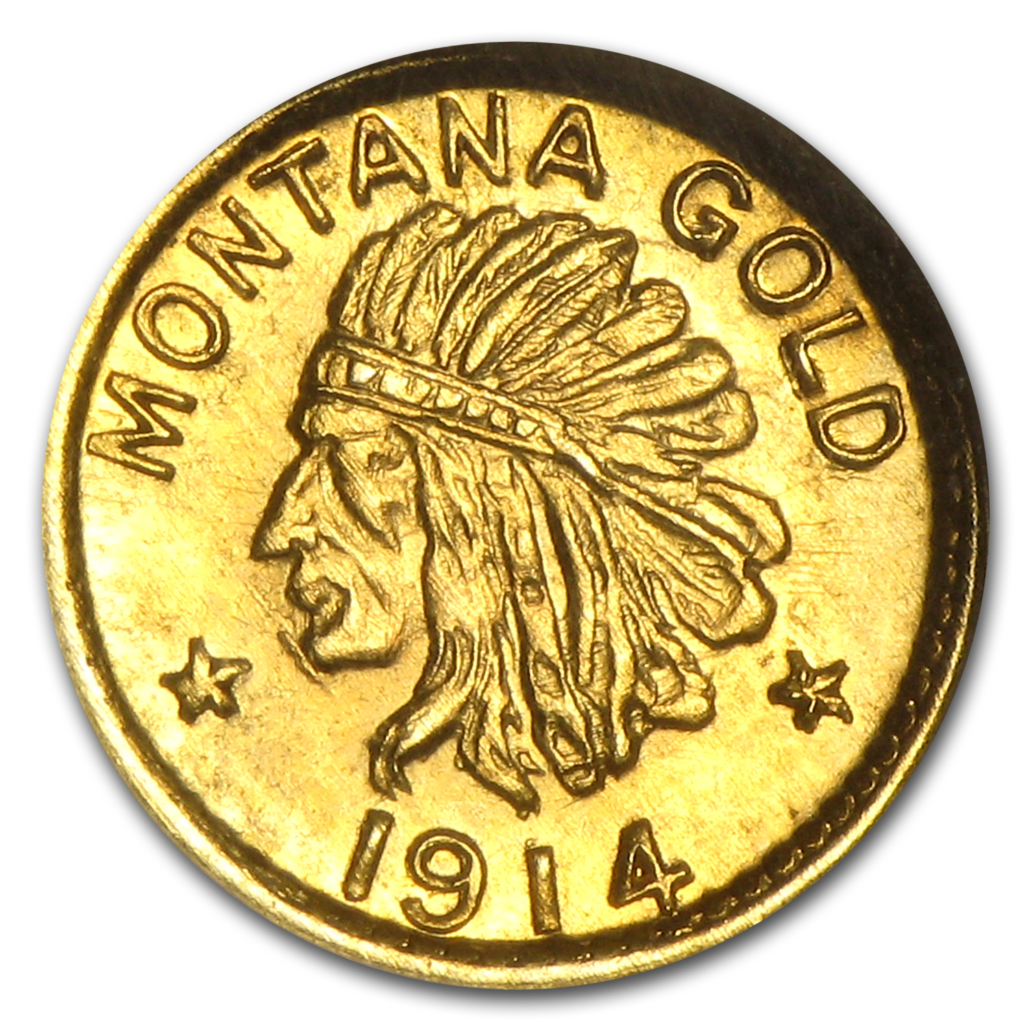 1914 Indian Round Half Dollar Montana Gold MS-65 NGC