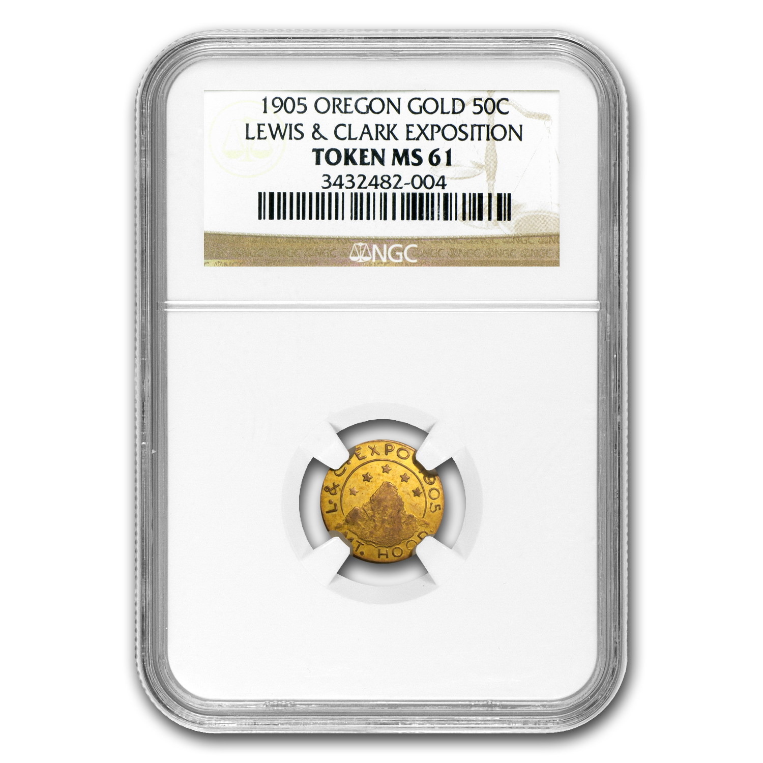1905 Oregon Gold 50 Cent - Lewis and Clark Exposition MS-61 NGC