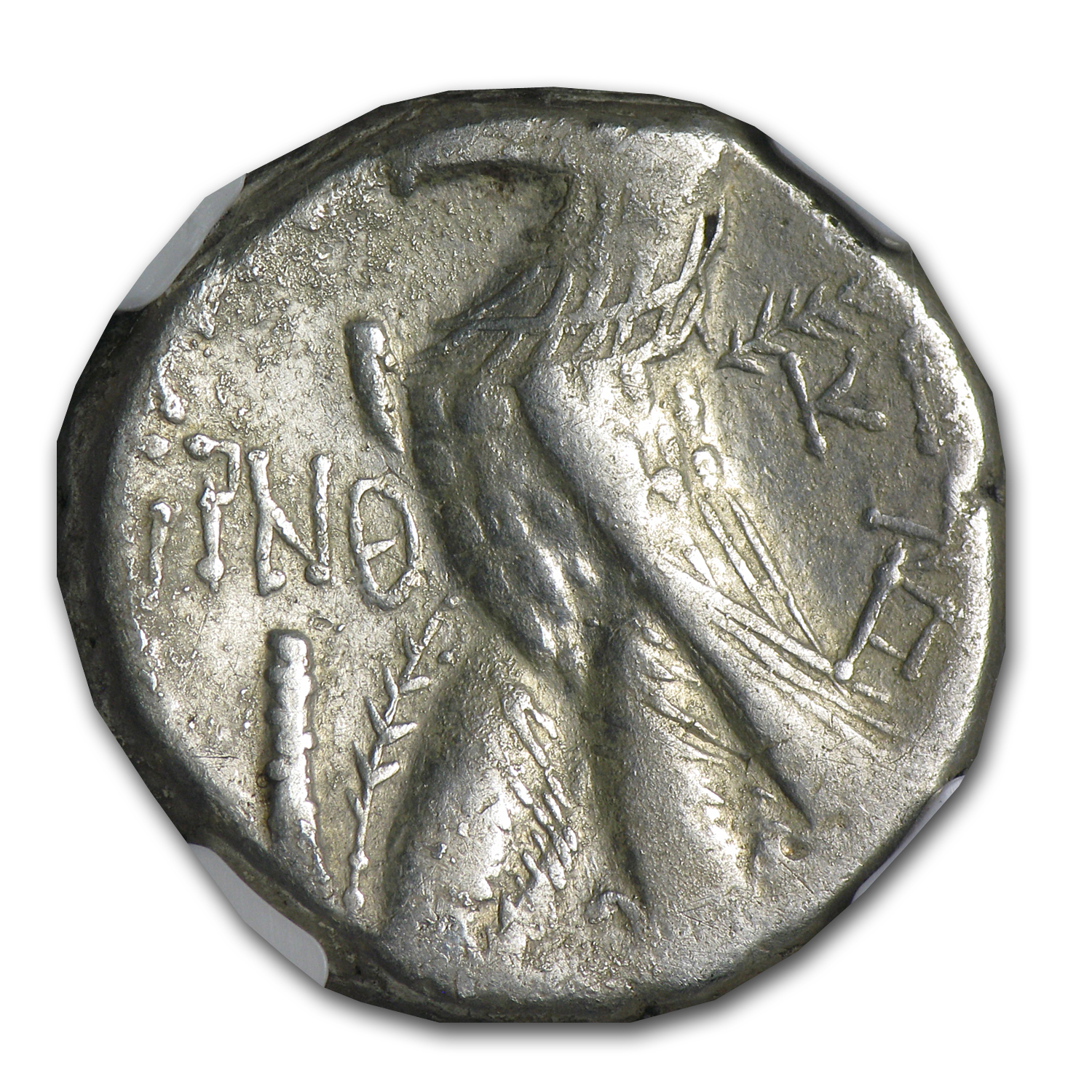 Phoenicia Tyre Silver Shekel VF NGC (126-5 BC-65-6 AD)