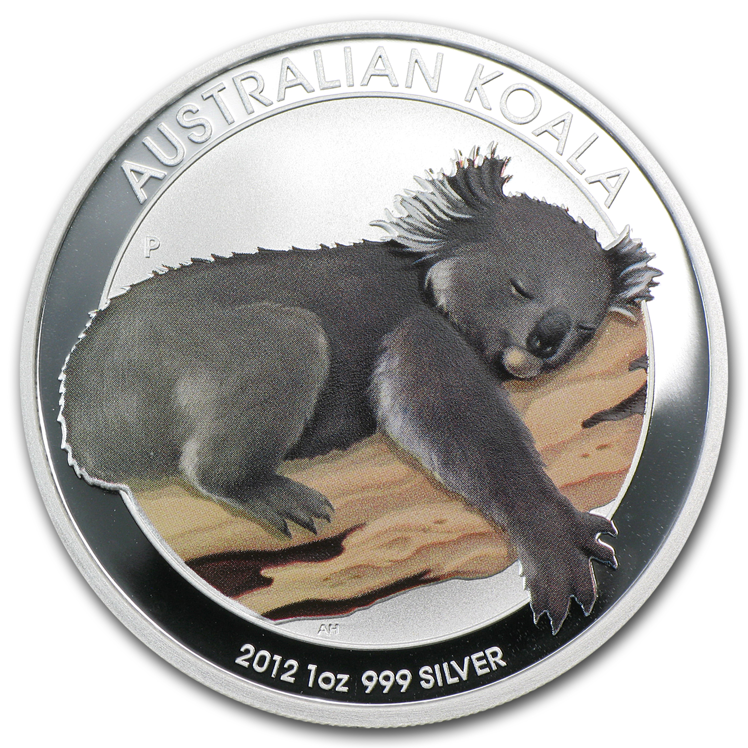2012 1 oz Silver Australian Koala BU (Colorized, In Capsule)