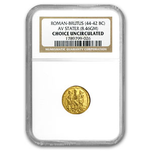 Roman Brutus Gold Stater Ch Unc NGC (44-42 BC)
