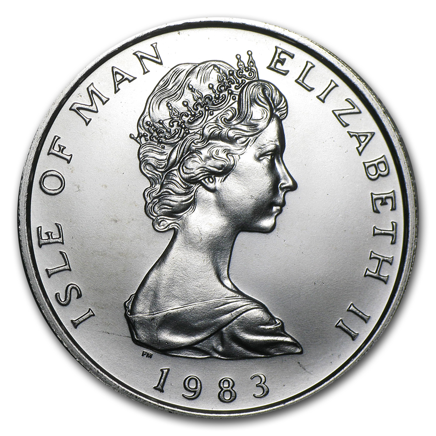 1983 Isle of Man 1 oz Platinum Noble (Scruffy)