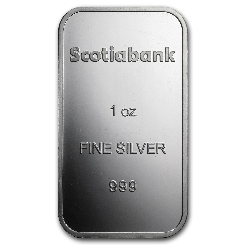 1 Oz Silver Bar Scotiabank 1 Oz Silver Bars Apmex