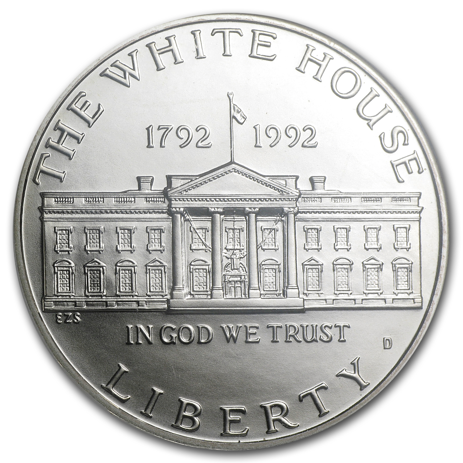 1992-D White House $1 Silver Commem MS-70 NGC