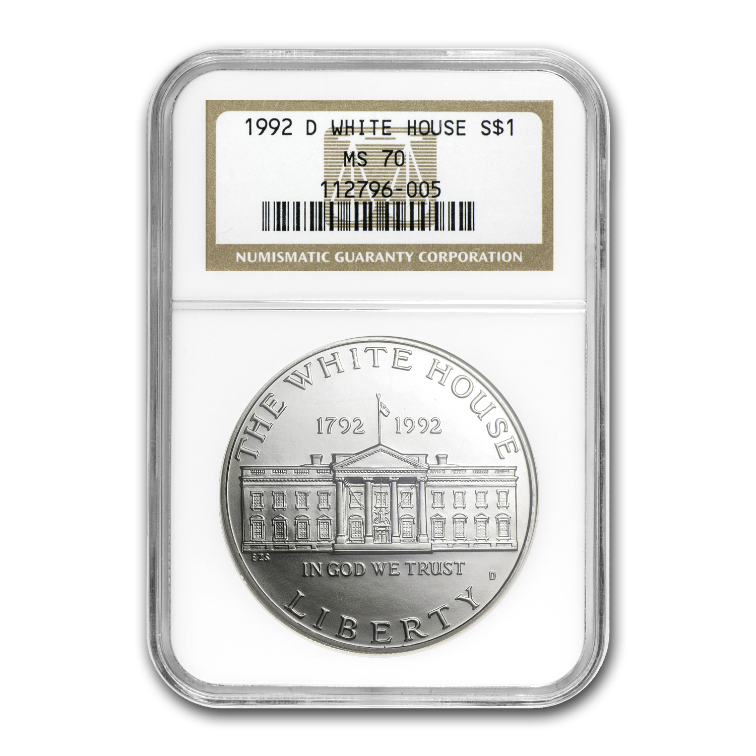 1992-D White House $1 Silver Commemorative MS-70 NGC