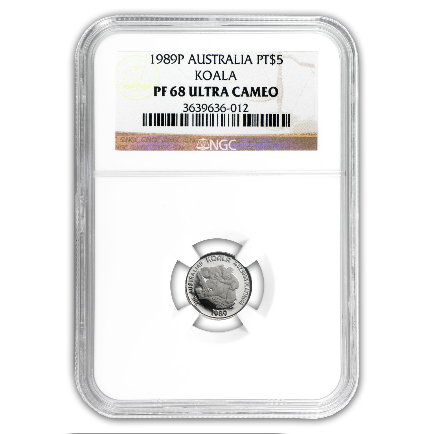 1989 Australia 1/20 oz Proof Platinum Koala PF-68 NGC