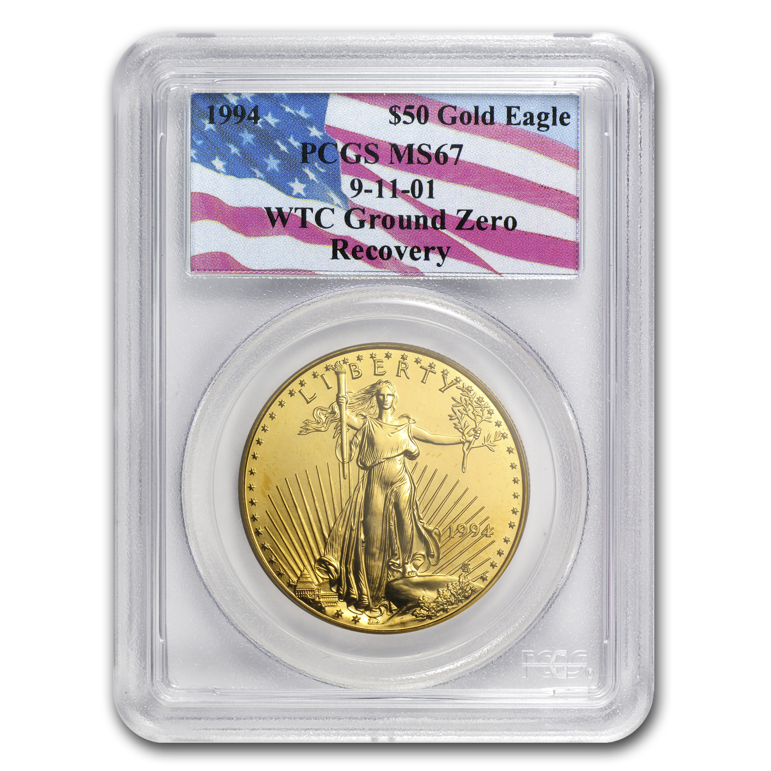 1994 1 oz Gold American Eagle MS-67 PCGS (World Trade Center)