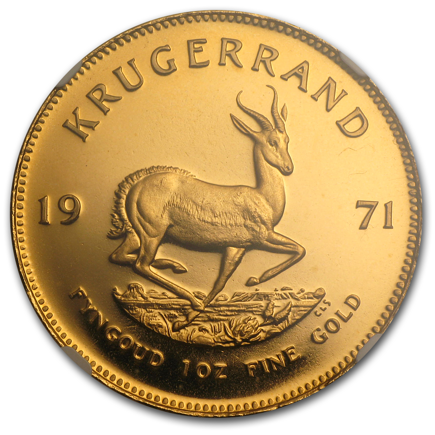 1971 South Africa 1 oz Gold Krugerrand PF-67 NGC