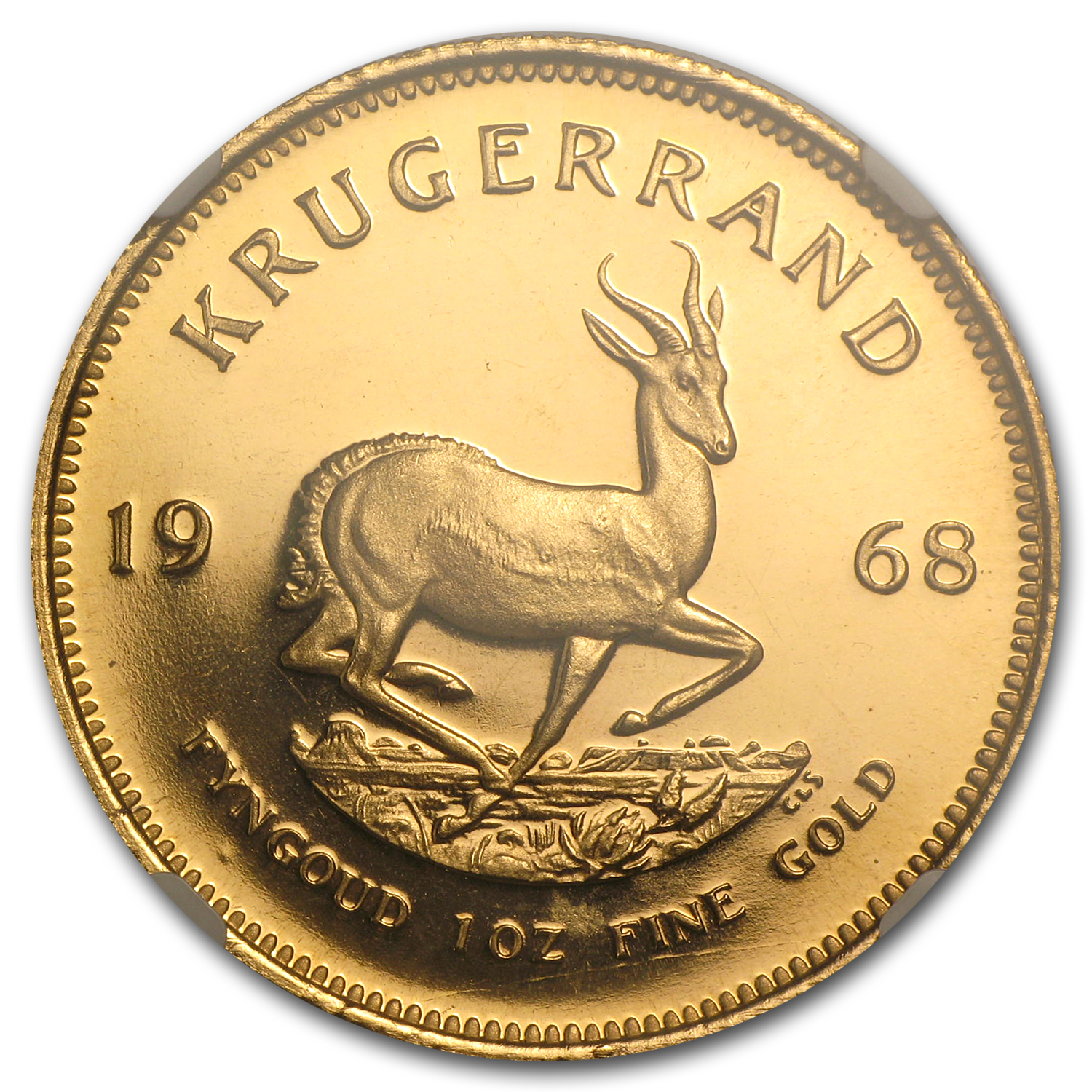 1968 1 oz Gold South African Krugerrand PF-67 UCAM NGC
