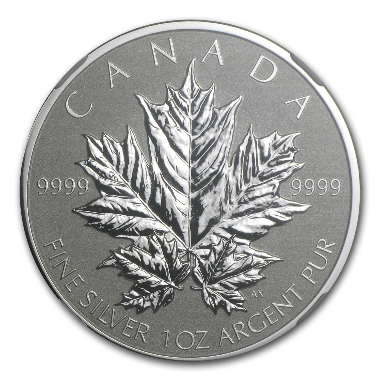 2013 1 oz Silver Canadian Maple Leaf PF-70 NGC (25th Anniv.)