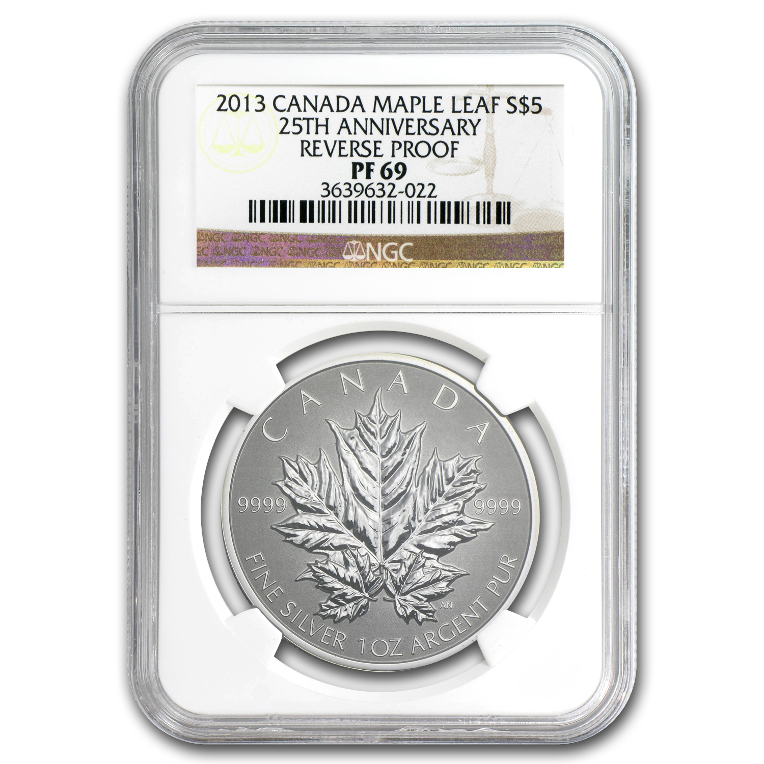 2013 Canada 1 oz Silver Maple Leaf PF-69 NGC (25th Anniv)