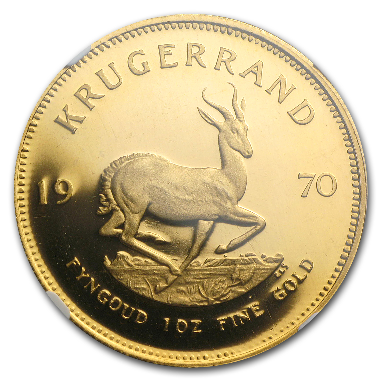 1970 South Africa 1 oz Gold Krugerrand PF-67 NGC