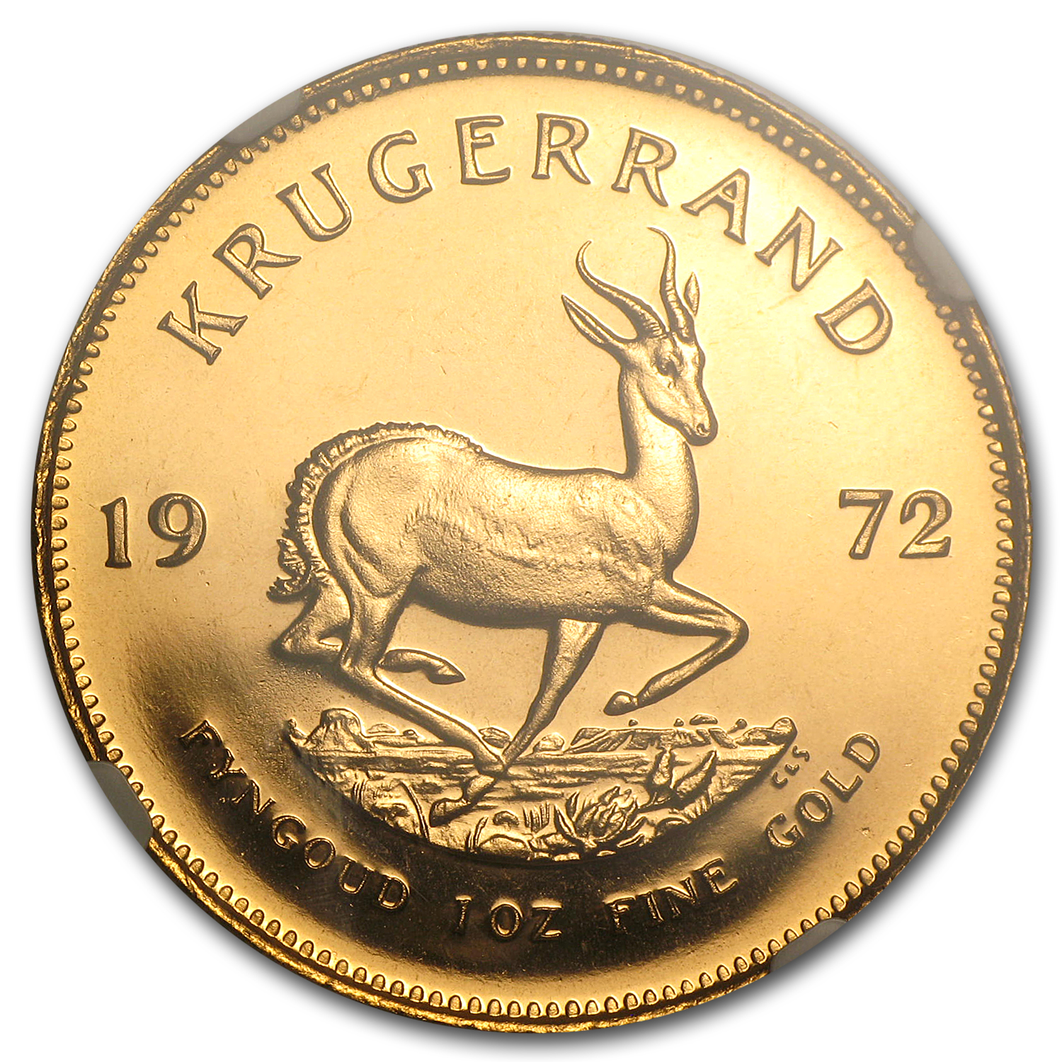 1972 1 oz Gold South African Krugerrand PF-66 Cameo NGC