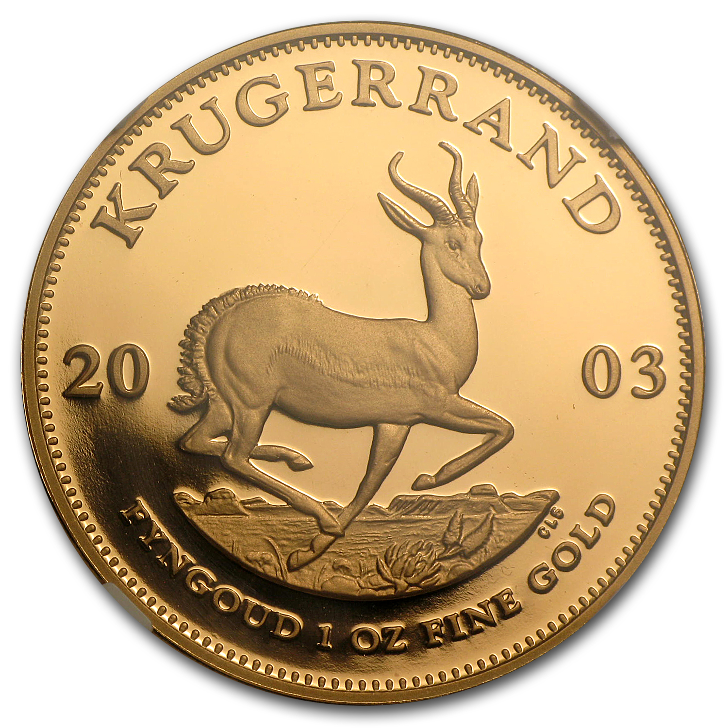 2003 South Africa 1 oz Gold Krugerrand PF-69 NGC