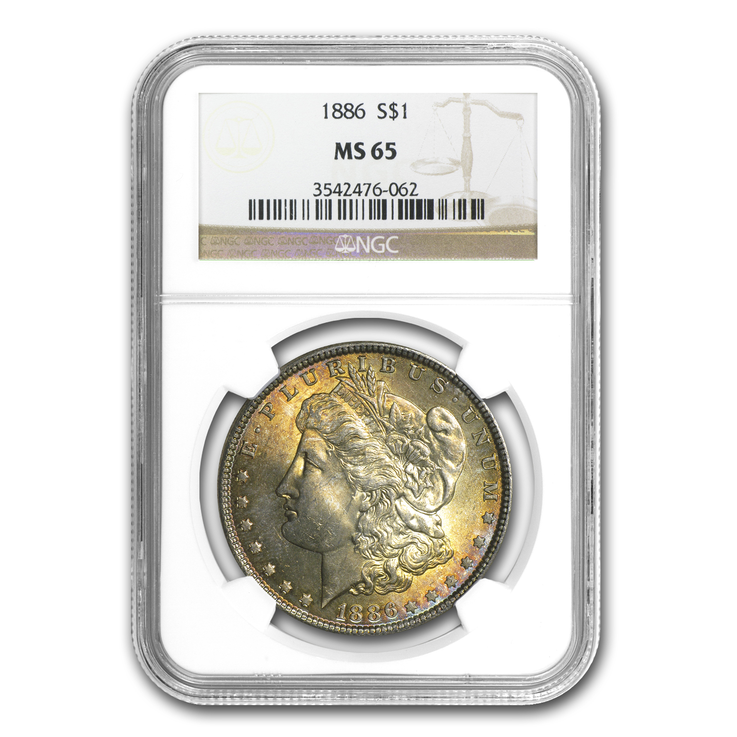 1878-1904 Morgan Dollars - MS-65 NGC (Beautifully Toned)