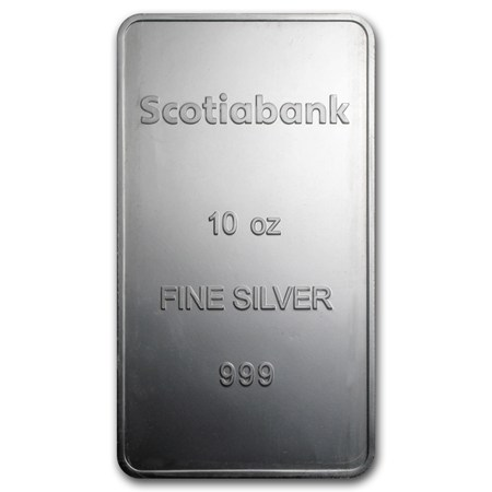 10 Oz Silver Bar Scotiabank 10 Oz Silver Bars Apmex