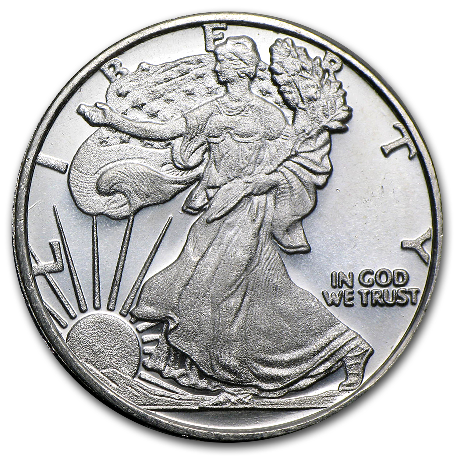 1/2 oz Silver Rounds - Silver Eagle (Walking Liberty/Replica)