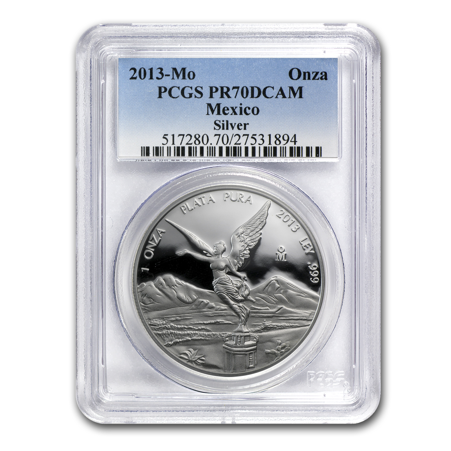 2013 Mexico 1 oz Proof Silver Libertad PR-70 PCGS
