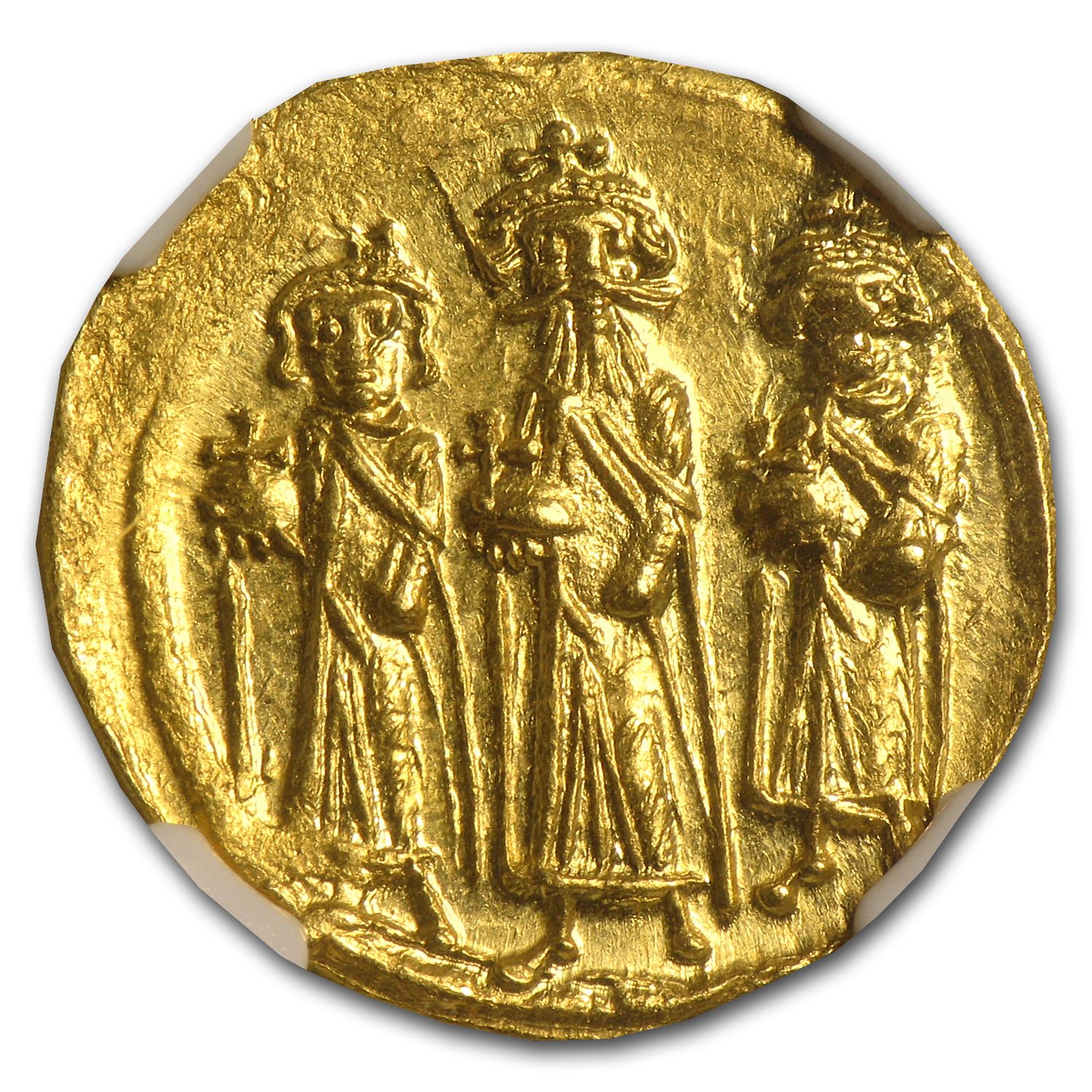 Byzantine Gold Coin - Heraclius (610-641AD) NGC MS
