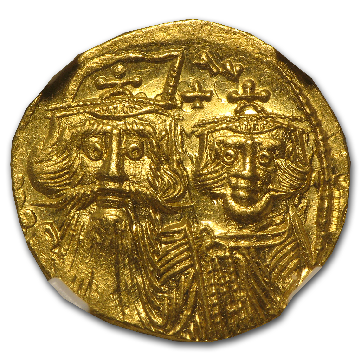 Byzantine Gold Constans II, Constant. IV MS NGC (641-668 AD)