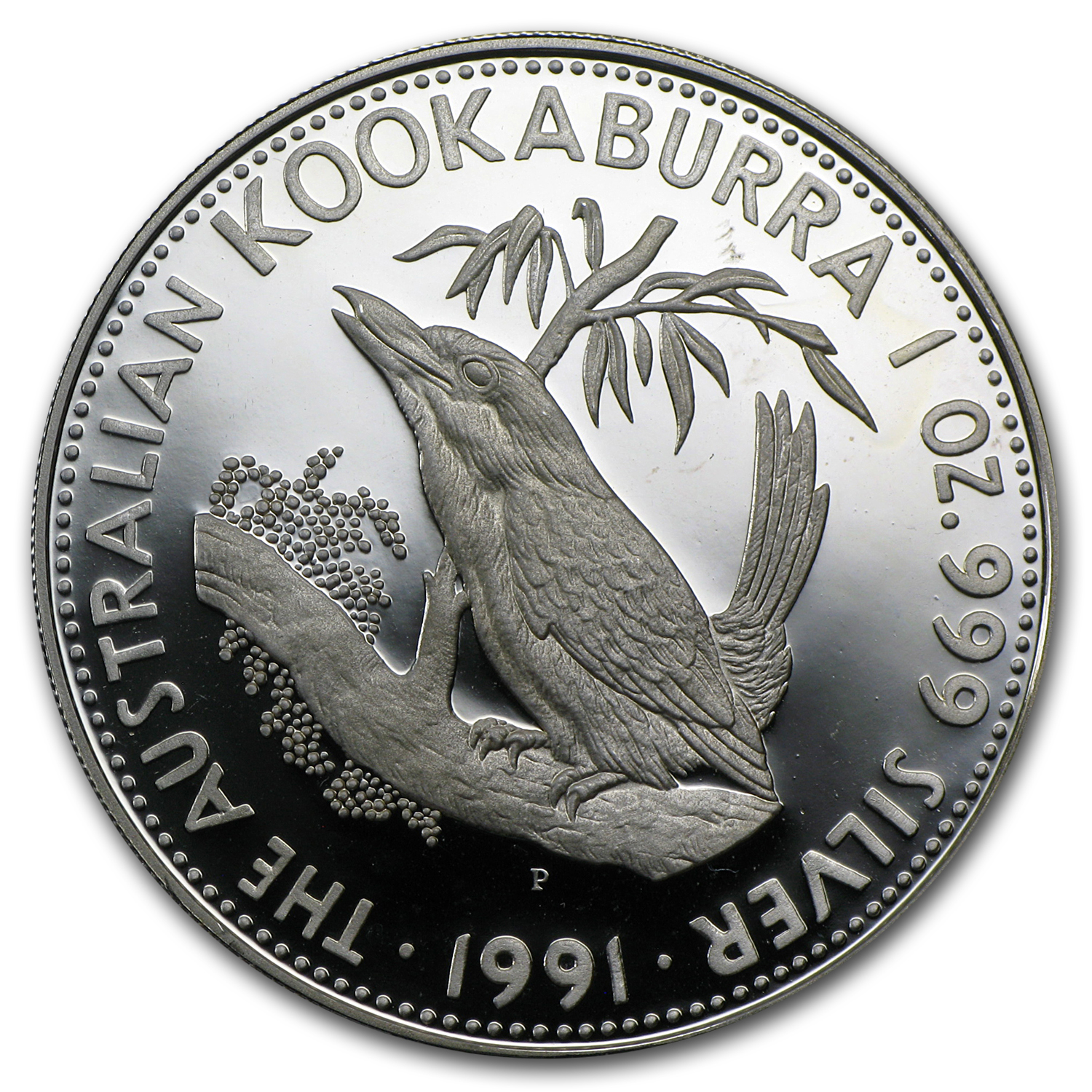 1991 1 oz Silver Australian Kookaburra Proof (Light Abrasions)