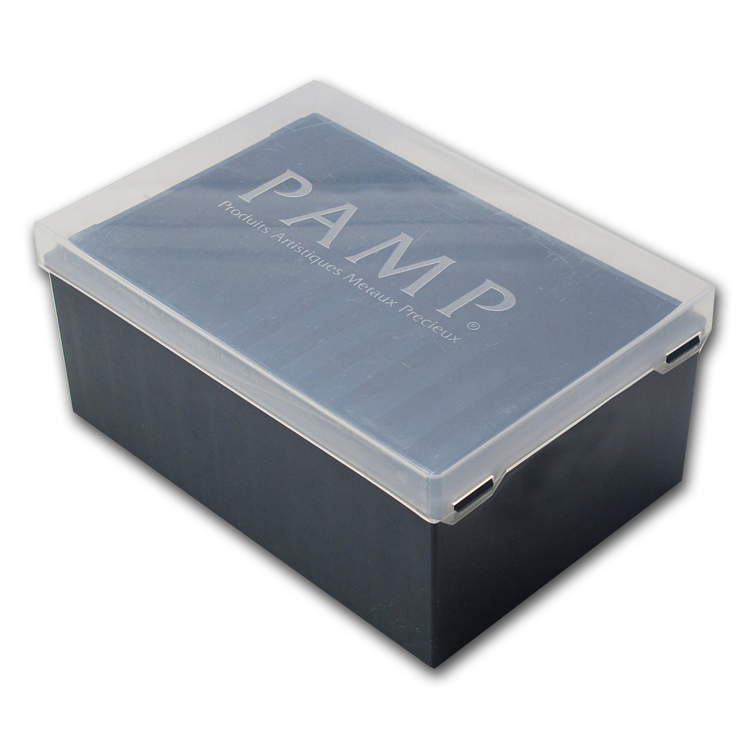 10-Count PAMP Suisse Large Bar Storage Box (Used)