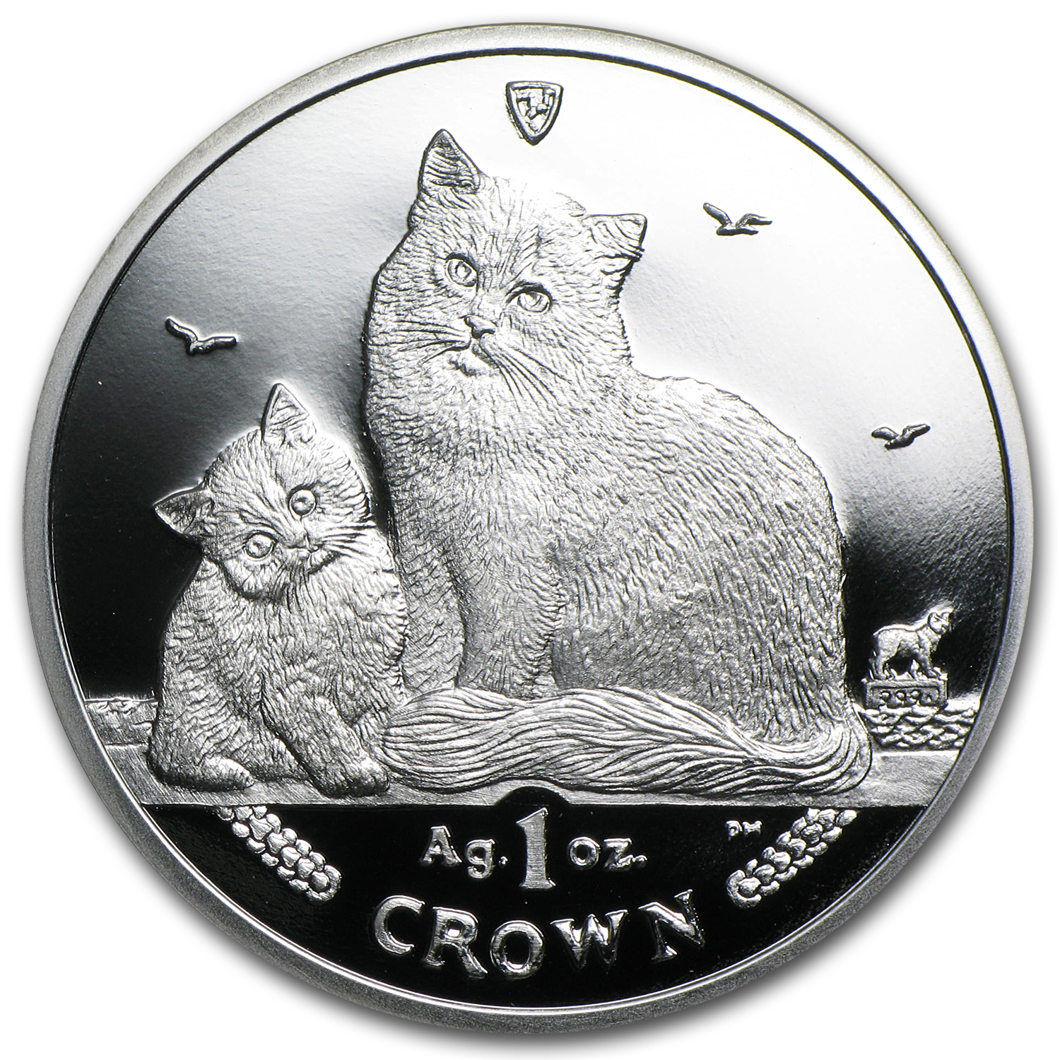 Isle of Man 2013 1 Crown Silver Siberian Cat Proof