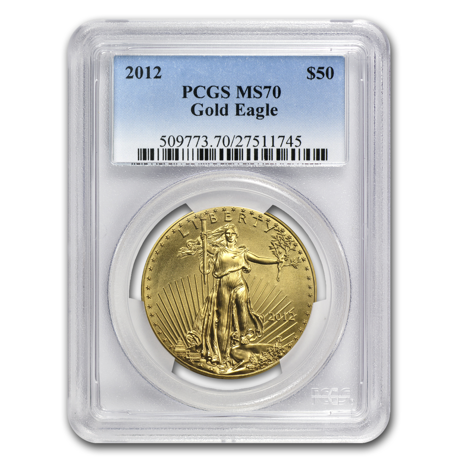 2012 1 oz Gold American Eagle MS-70 PCGS