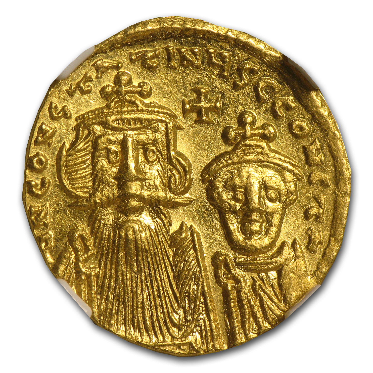 Byzantine Gold Constans II, Constant. IV MS NGC (654-668 AD)