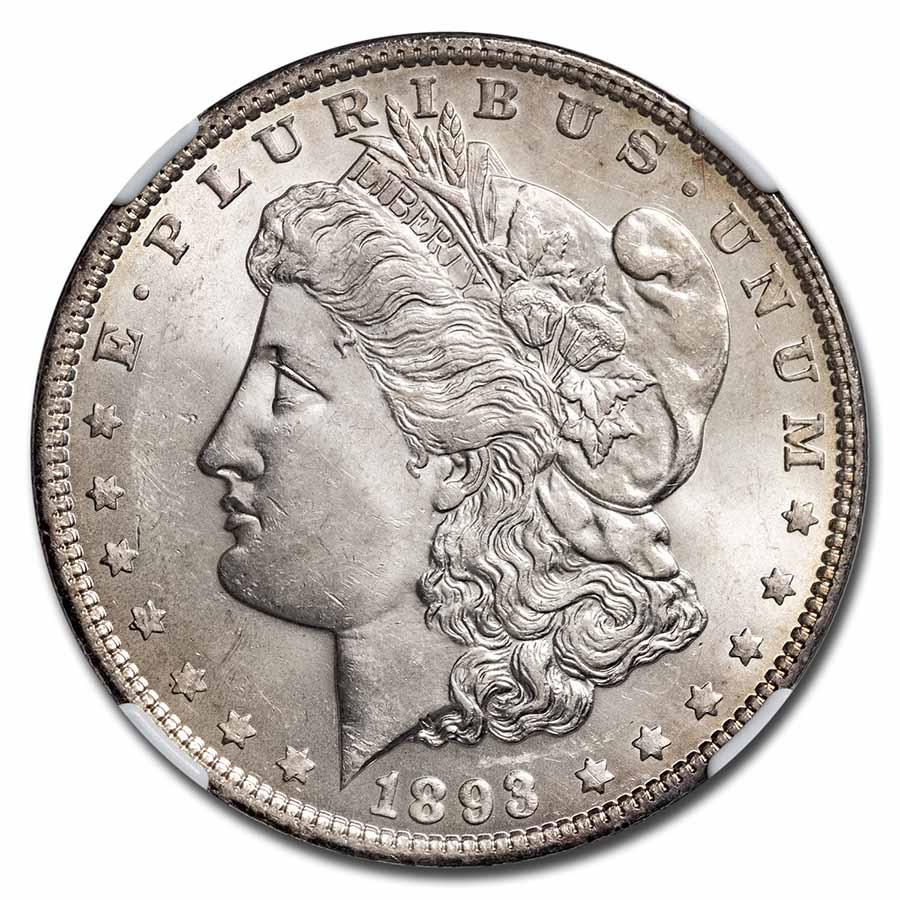 1893 Morgan Dollar MS-63 NGC