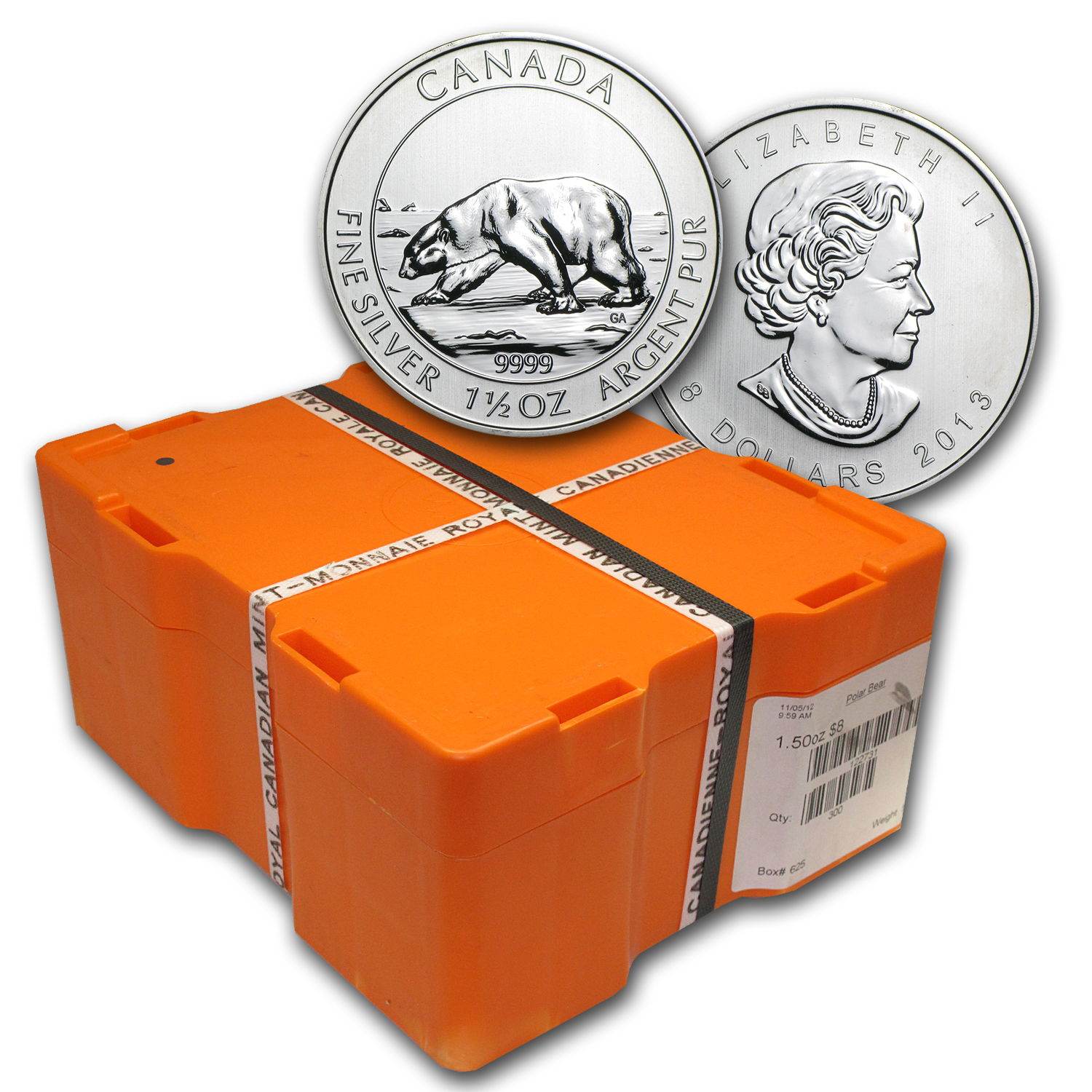 2013 Canada 300-Coin 1.5 oz Silver $8 Polar Bear (Sealed Box)