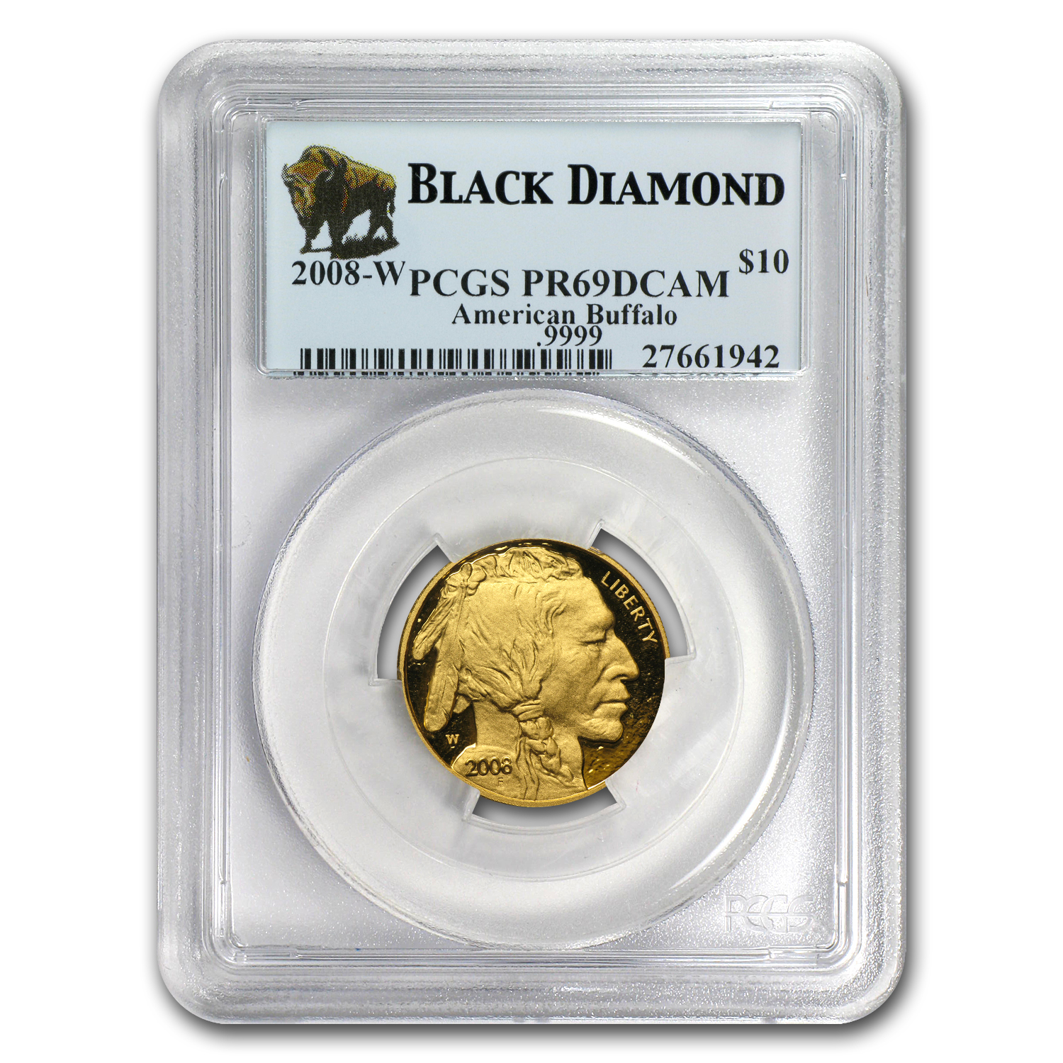 2008-W 4-Coin Gold Buffalo Set PR-69 PCGS (Black Diamond)