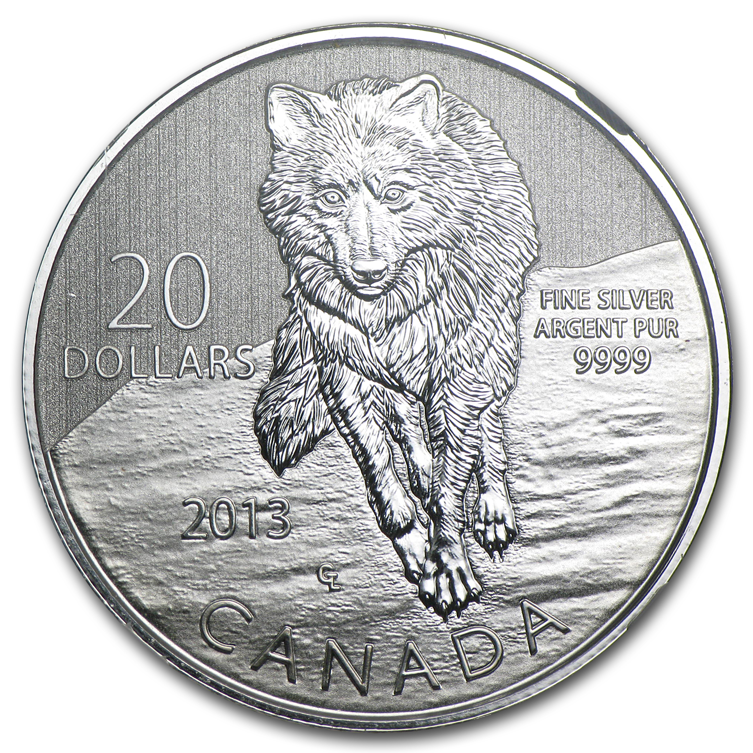 2013 1/4 oz Silver Canadian $20 Wolf - SP-69 NGC ER