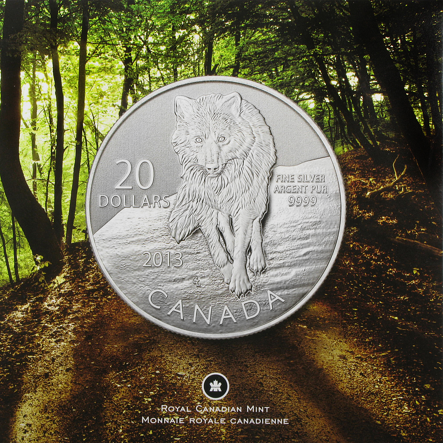 2013 Canada 1/4 oz Silver $20 Wolf SP-70 NGC (ER)