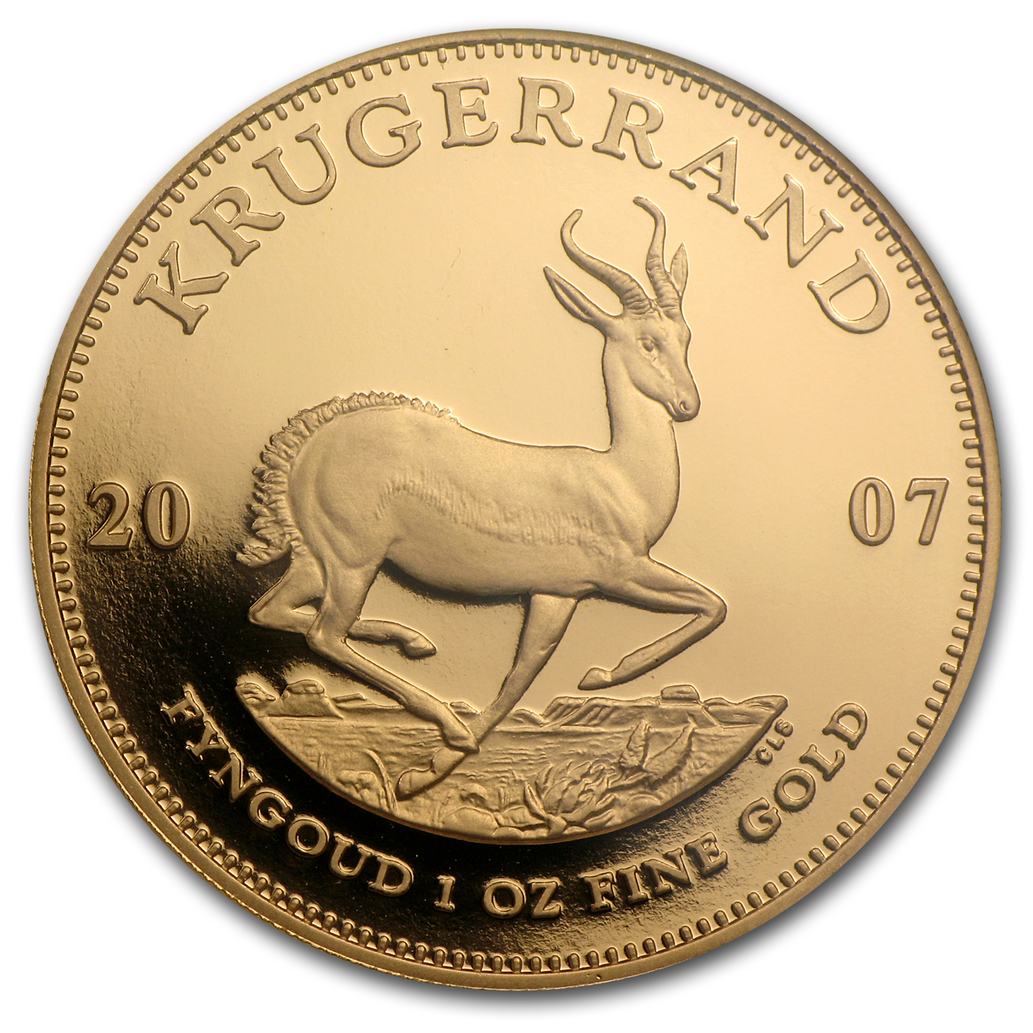 2007 South Africa 1 oz Gold Krugerrand PF-69 NGC