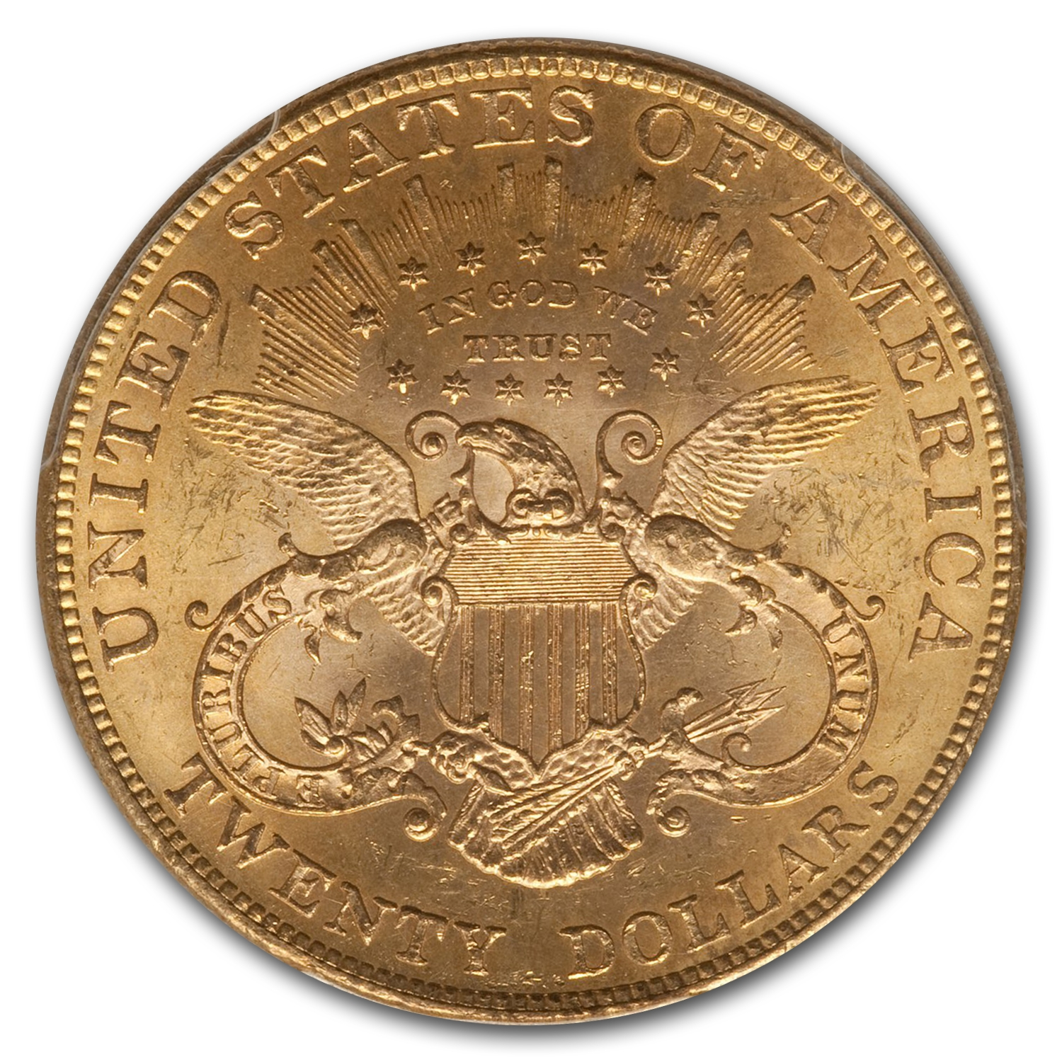 1901 $20 Gold Liberty Double Eagle - MS-61 PCGS