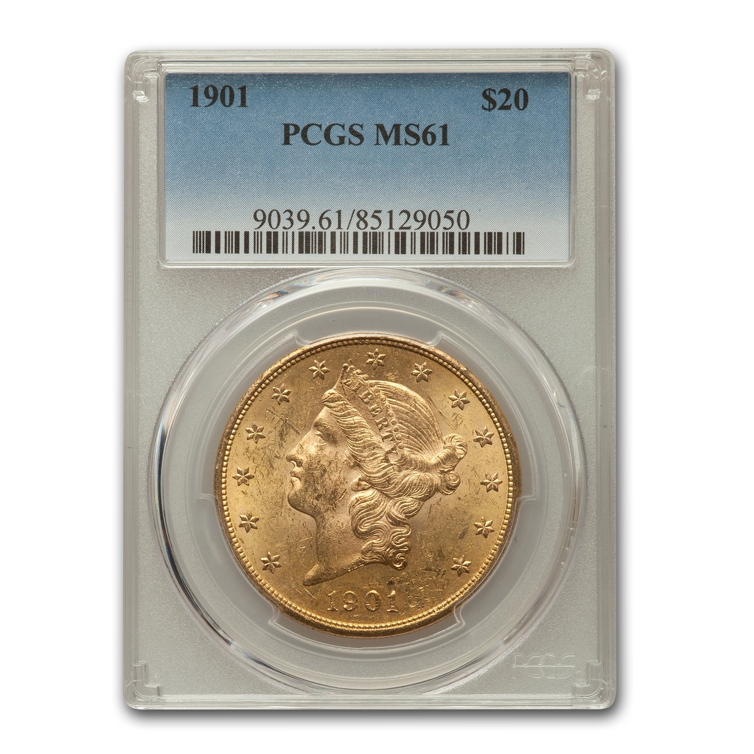 1901 $20 Liberty Gold Double Eagle MS-61 PCGS