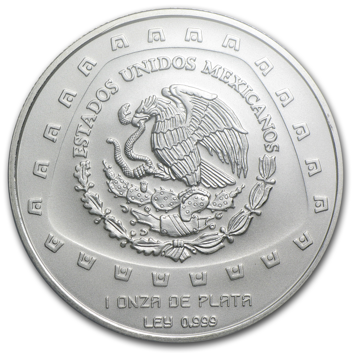 1998 1 oz Mexican Silver 5 Pesos Serpiente MS-69 PCGS