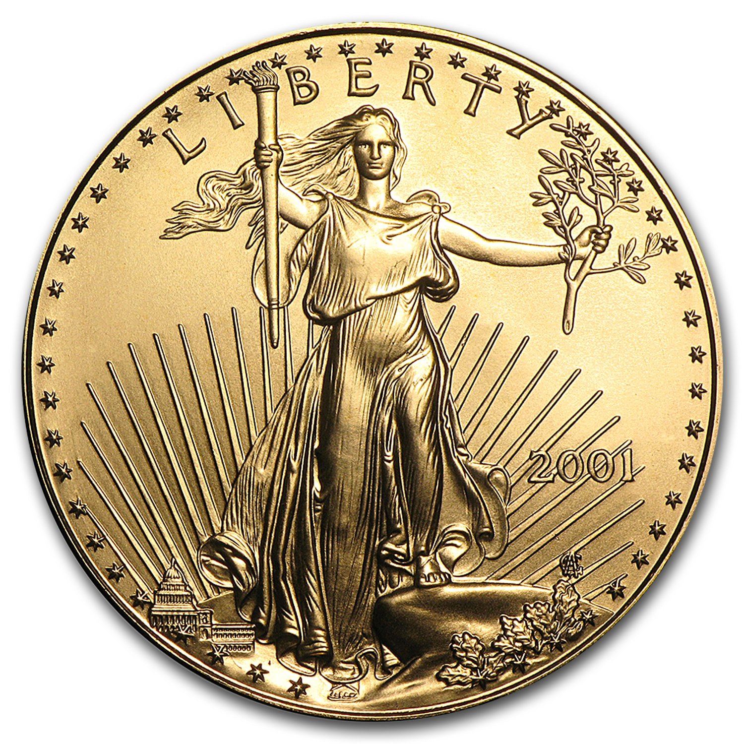 2001 1 oz Gold American Eagle BU