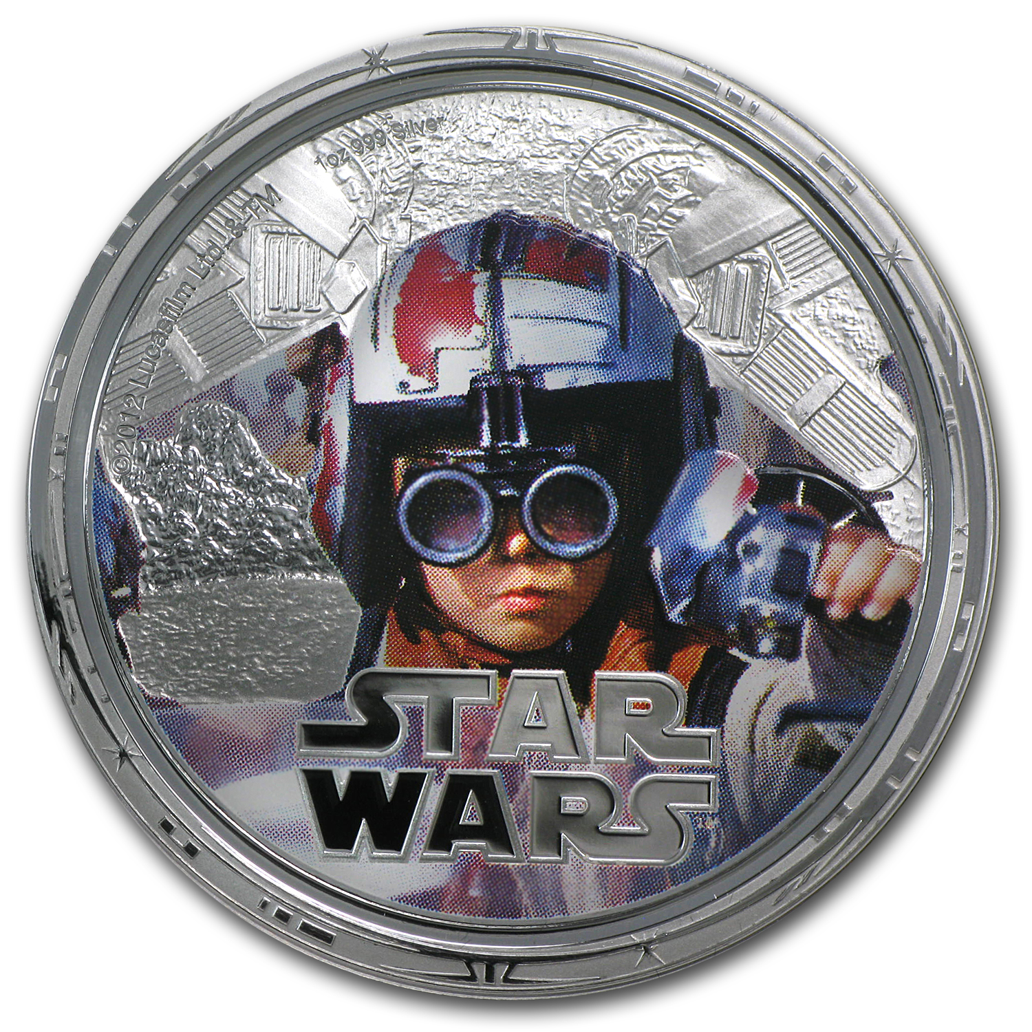 2012 4-Coin Silver Star Wars Millennium Falcon Prf Set (Series 2)