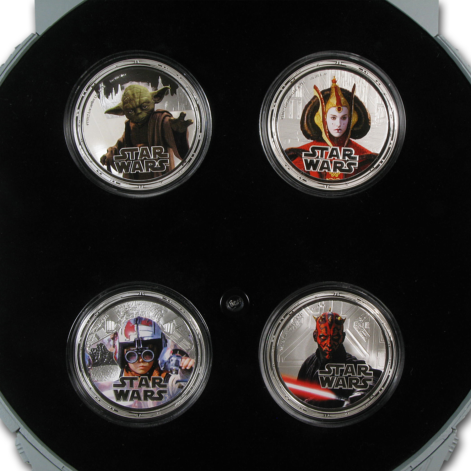 2012 Star Wars Proof Silver 4-Coin Set Millennium Falcon-Series 2