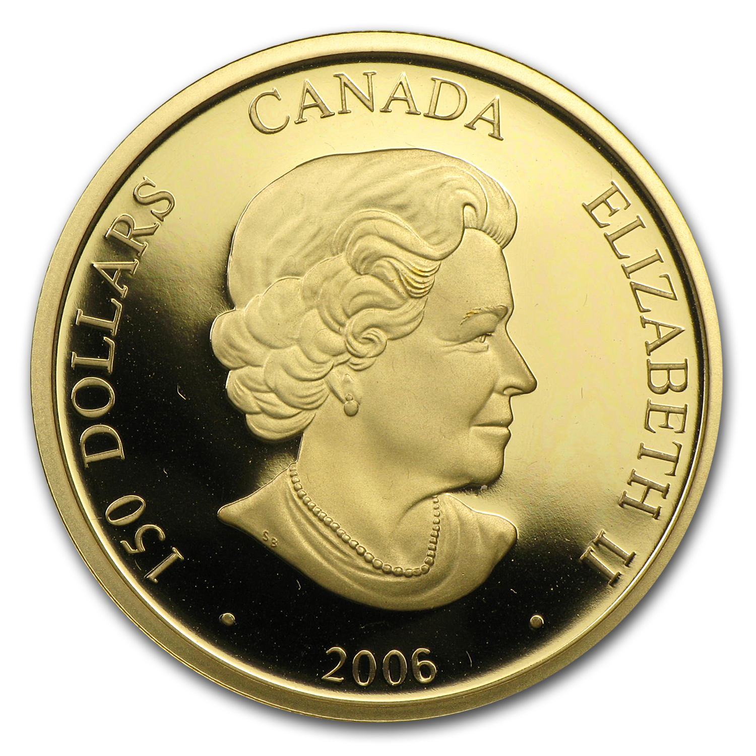 2006 Gold Canadian $150 Lunar Year of the Dog Hologram
