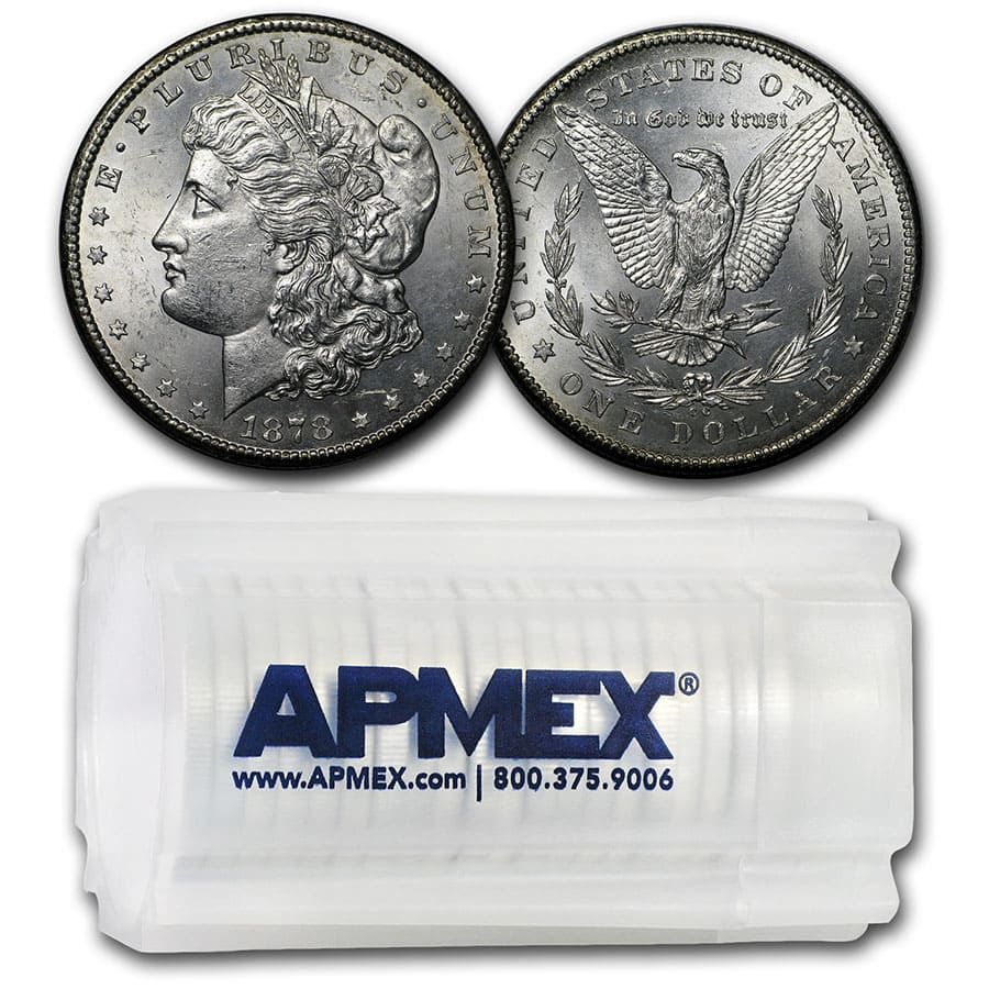 1878-CC Morgan Dollar - Brilliant Uncirculated Roll 20 Coins