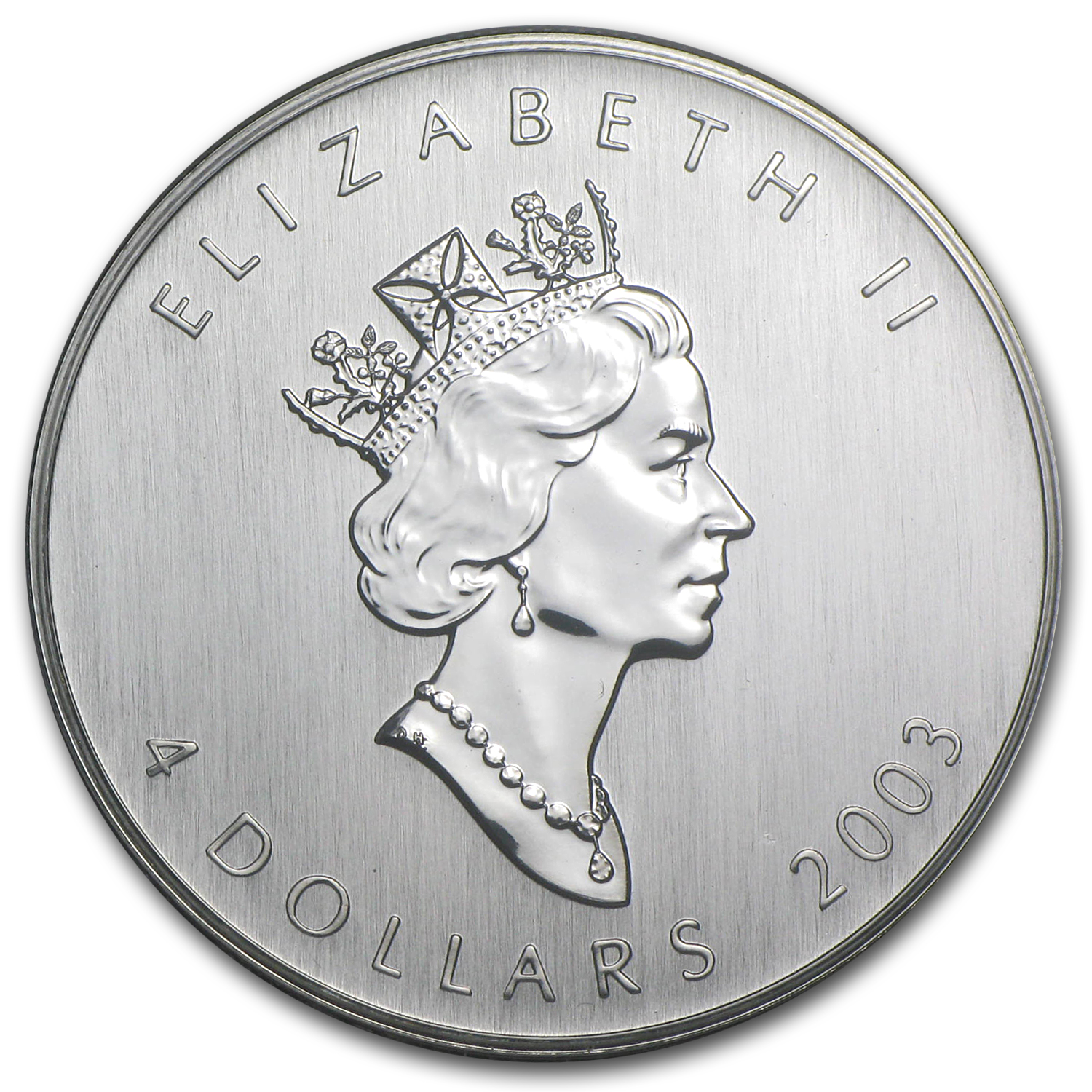 2003 Canada 1/2 oz Silver $4 Maple Leaf (Hologram)