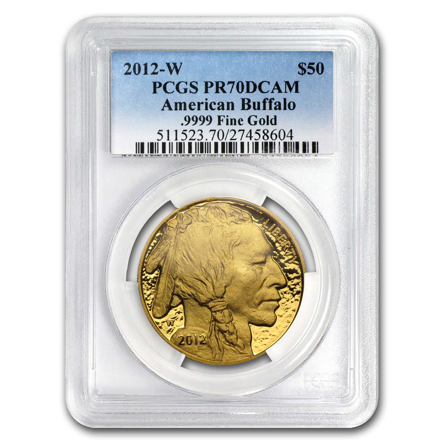 2012-W 1 oz Proof Gold Buffalo PR-70 PCGS