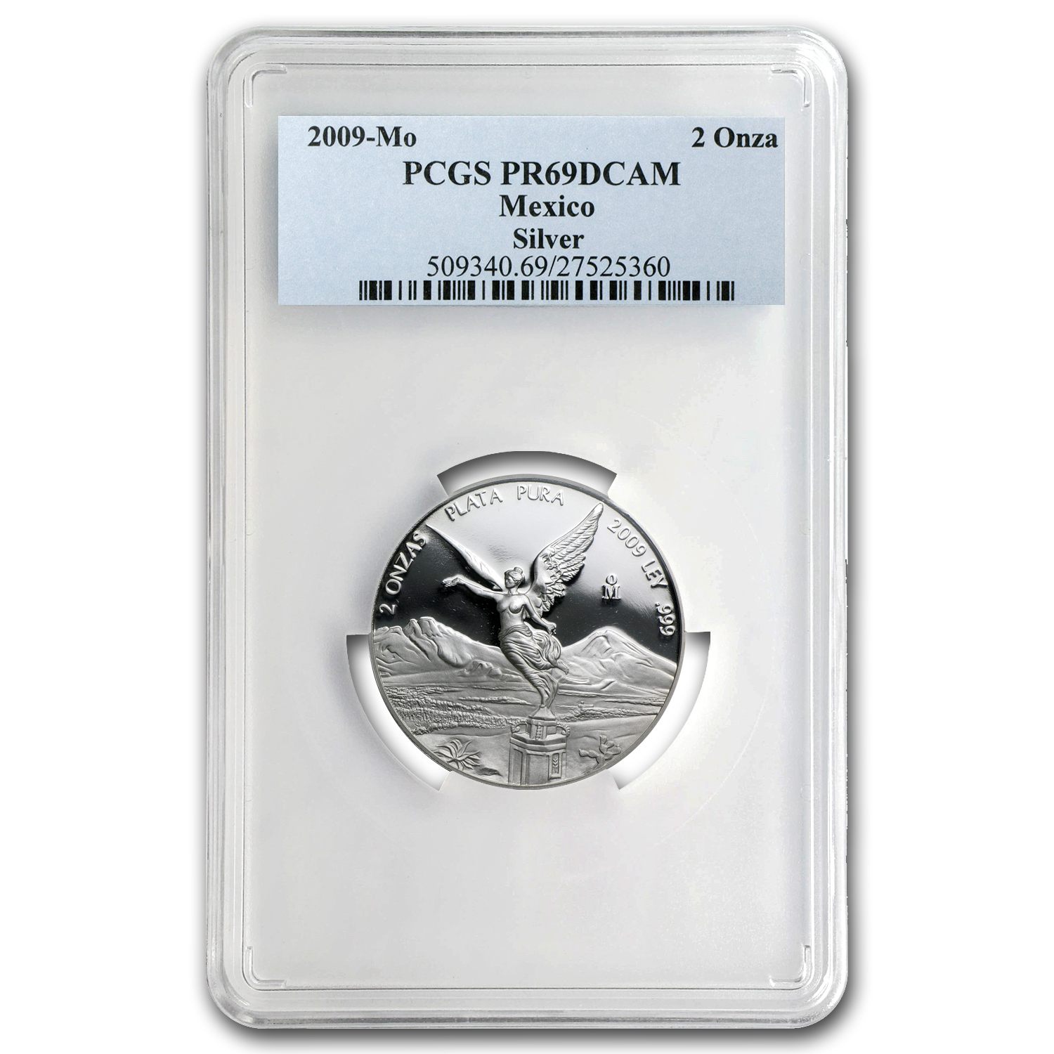 2009 Mexico 2 oz Proof Silver Libertad PR-69 PCGS