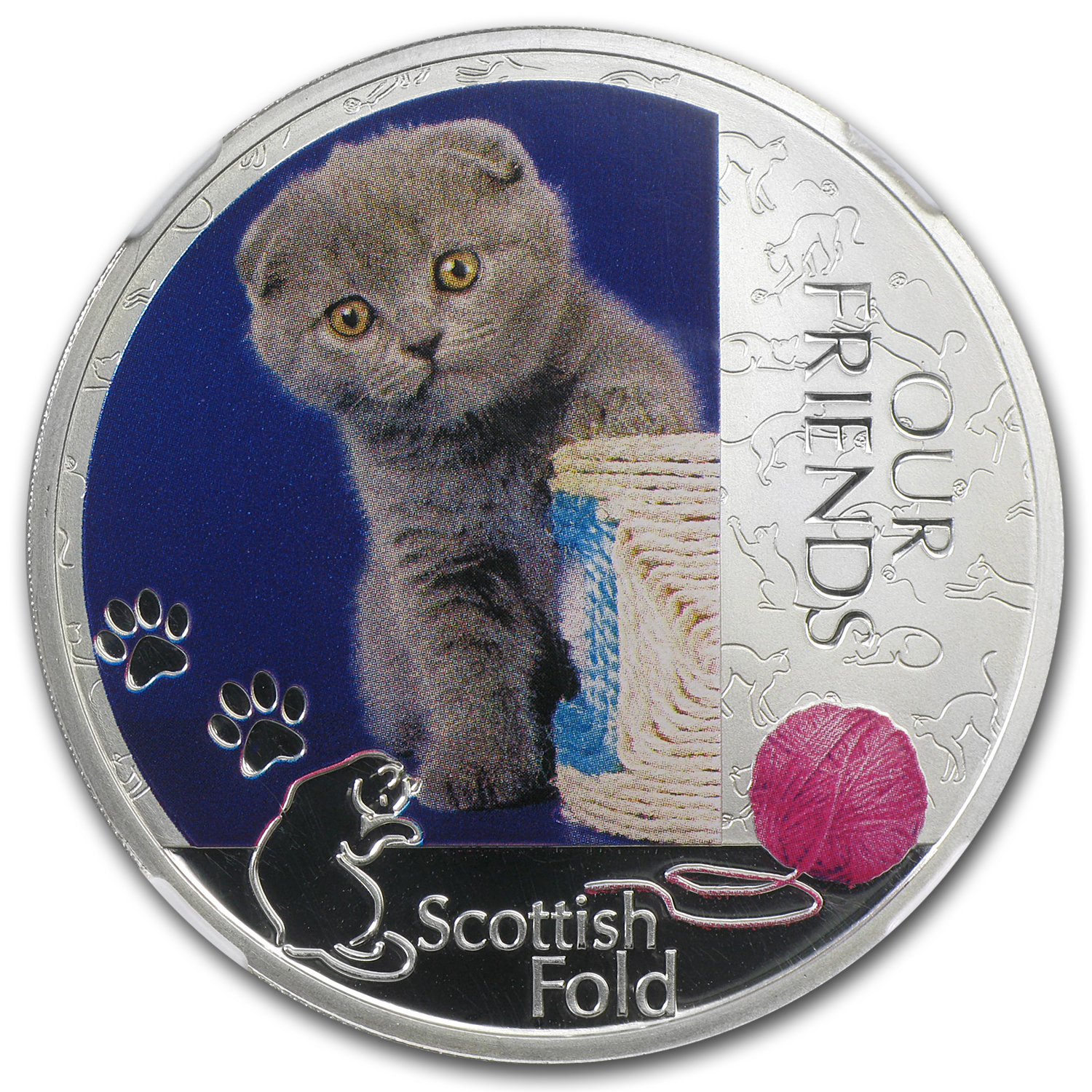 2012 Niue 1 oz Silver Kitten Collection Scottish Fold PF-69 NGC