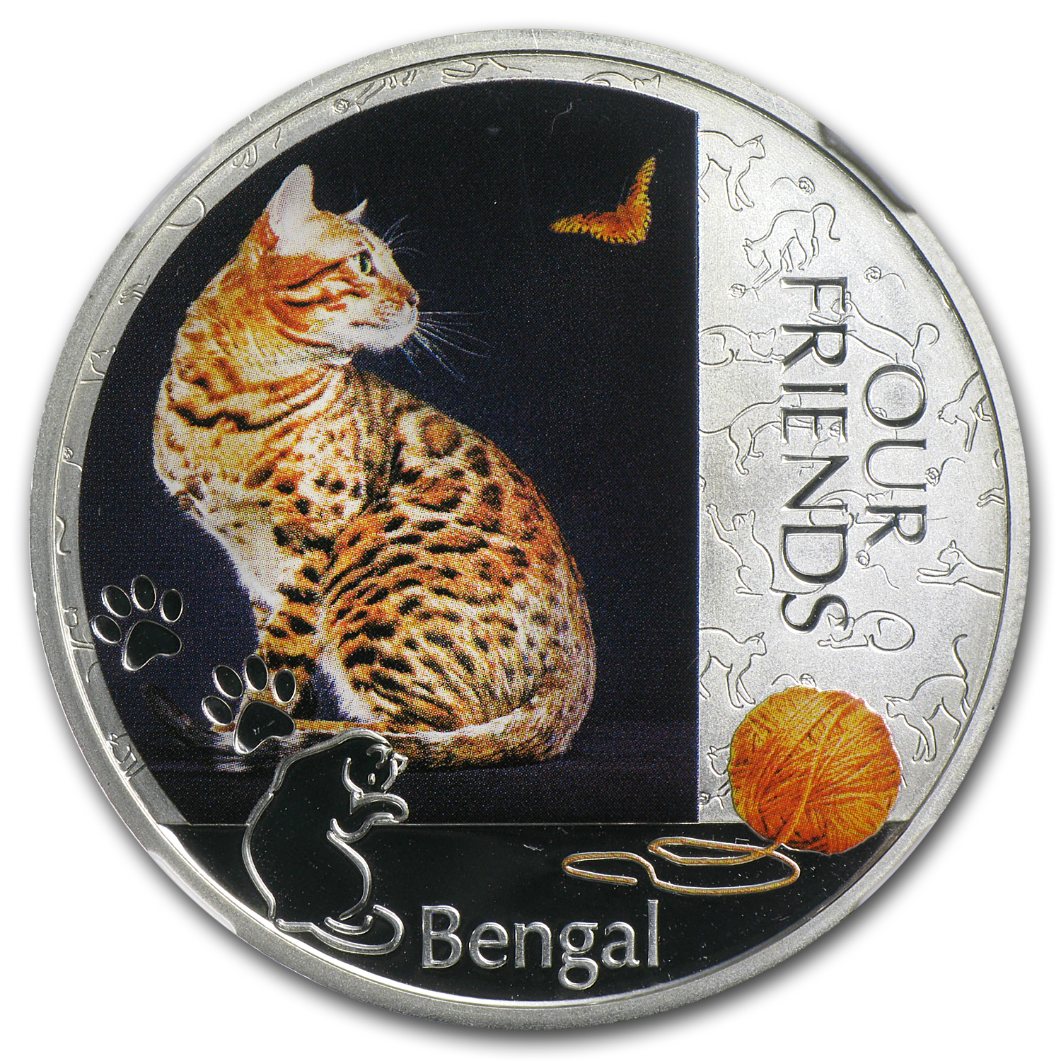 2012 Niue 1 oz Silver Kitten Collection Bengal Cat PF-69 NGC